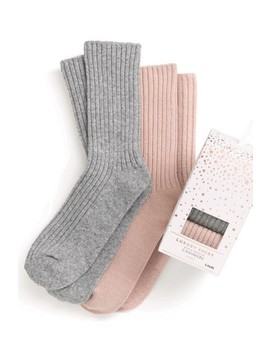 Cashmere Mix Socks In A Box Two Pack by Next