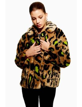 Cropped Leopard Print Jacket by Topshop
