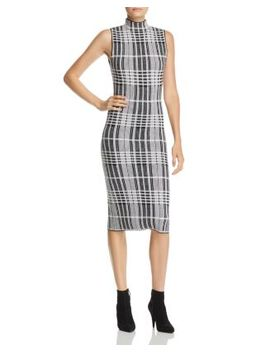Hana Plaid Wool Midi Dress by Alice And Olivia