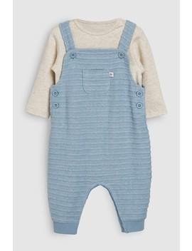 Blue Jersey Dungarees And Bodysuit (0mths 2yrs) by Next