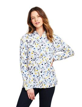 Women's Brushed Rayon Collared Shirt by Lands' End