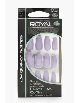 24 Lilac Lush Coffin Nails by Boohoo