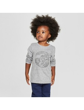 Toddler Boys' Critters Long Sleeve T Shirt   Cat & Jack™ Charcoal by Cat & Jack™