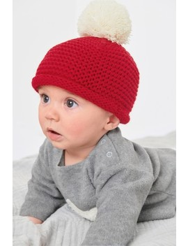 Red Knitted Hat (0mths 2yrs) by Next