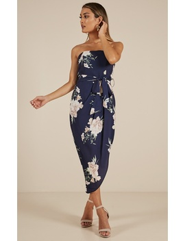 State Of Mind Dress In Navy Floral by Showpo Fashion
