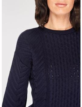 Navy Chunky Cable Knitted Jumper by Dorothy Perkins