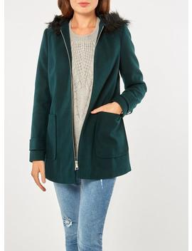 Green Hooded Duffle Coat by Dorothy Perkins