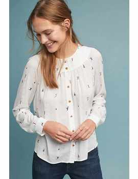 Colloquial Bluse Mit Passe by Anthropologie