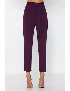 Your Call Can't Be Connected Tie Pants by Nasty Gal