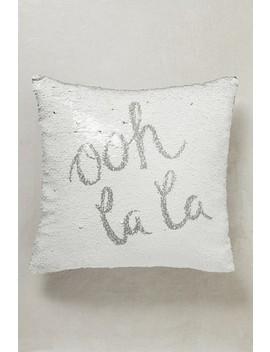 Ooh La La Swipeable Sequins Cushion by Next