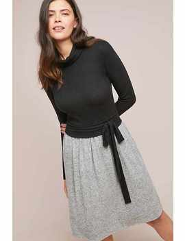 Brushed Fleece Turtleneck Dress by Ella Mara