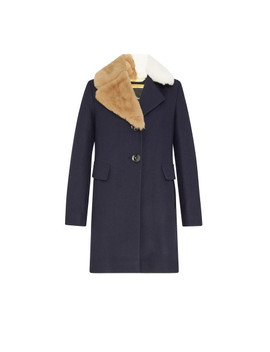Walker Faux Fur Collar Coat by Sam Edelman