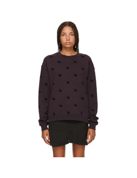 Purple Swallow Slouch Sweatshirt by Mcq Alexander Mcqueen