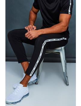 Man Active Gym Jogger With Side Tape by Boohoo