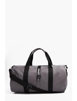 Washed Nylon Carabiner Fastening Barrel Bag by Boohoo
