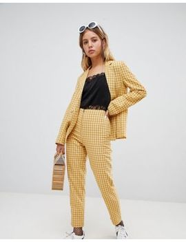 Wild Honey   Broek Met Ritssluiting In Geruite Combi Set by Asos