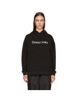 Ssense Exclusive Black 'democrazy' Boy Hoodie by 6397