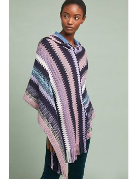 Missoni Hooded Knit Poncho by Missoni