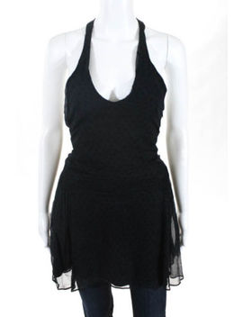 Marc Jacobs Black Silk Polka Dot Sheer Tank Top Tunic Size 8 by Marc Jacobs