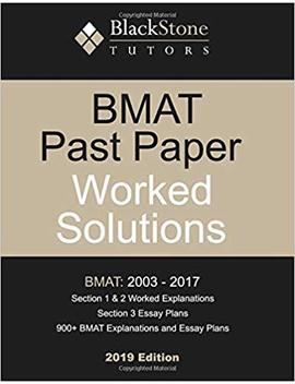 Bmat Past Paper Worked Solutions (2003 2017) by Amazon