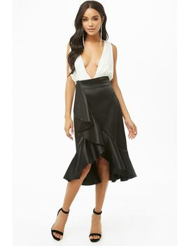 High Low Rok Met Volant by Forever 21