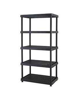 Keter 5 Shelf Heavy Duty Utility Freestanding Ventilated Shelving Unit Storage Rack, Black by Keter