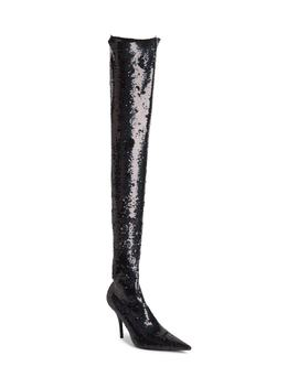 Sequin Over The Knee Boot by Balenciaga