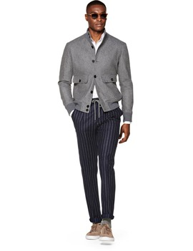 Grey Bomber Jacket by Suitsupply
