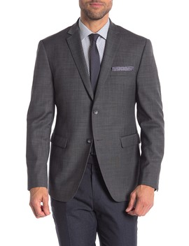 Charcoal Solid Two Button Notch Lapel Trim Fit Suit Separates Jacket by Original Penguin