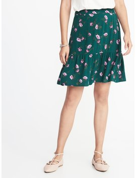 Printed Ruffle Tier Crepe Mini For Women by Old Navy