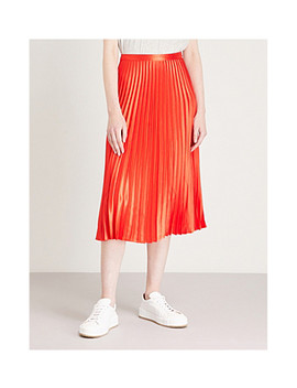 Pleated Satin Skirt by Whistles