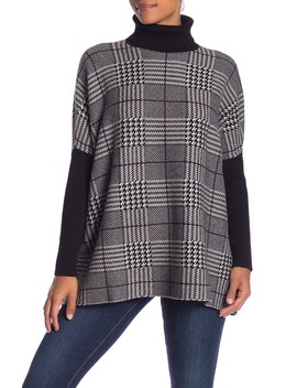 Houndstooth Turtleneck Sweater by Joseph A