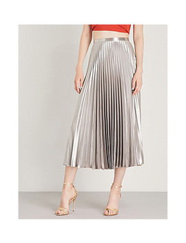 Metallic Pleated Skirt by Karen Millen