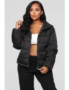 On The Cold Side Puffer Jacket   Black by Fashion Nova
