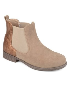 Brinley Co. Toddler Girls' Two Tone Metallic Embellished Heel Faux Suede Chelsea Boots by Brinley Co. Collection