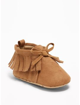 Fringed Moccasin Booties For Baby by Old Navy