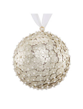 John Lewis & Partners Moonstone Bead Sequin Bauble, Silver by John Lewis & Partners