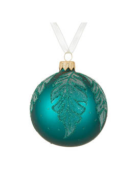 John Lewis & Partners Emerald Forest Leaf Bauble, Green by John Lewis & Partners