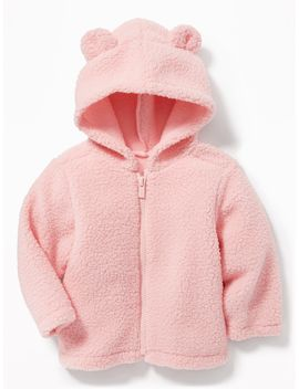 Hooded Sherpa Zip Jacket For Baby by Old Navy