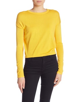 Crew Neck Solid Sweater by John & Jenn