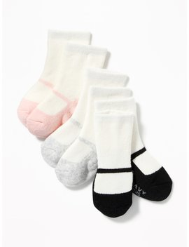 Ballet Sock 3 Pack For Baby by Old Navy
