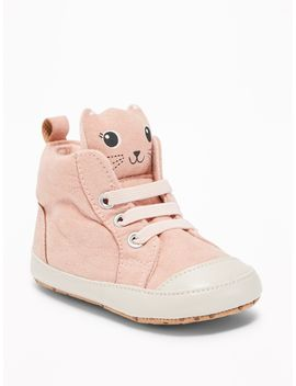 Sueded Critter High Tops For Baby by Old Navy