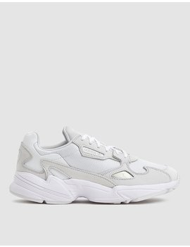 Falcon W In Triple White by Adidas