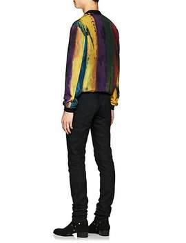 Tie Dyed Padded Silk Jacket by Saint Laurent