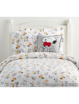 Peanuts® Valentine's Duvet Cover by Pottery Barn Kids