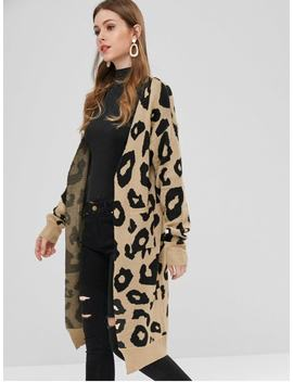 Leopard Long Cardigan   Multi M by Zaful