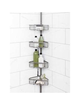 Zenna Home® Tension Corner Pole Shower Caddy In Satin Nickel by Bed Bath & Beyond