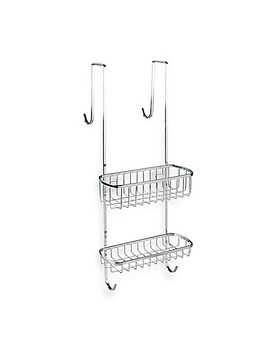 Inter Design Gia Over The Shower Door Shower Caddy In Chrome Finish by Bed Bath & Beyond