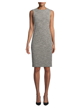 Eano Benton Sleeveless Tweed Sheath Dress by Theory