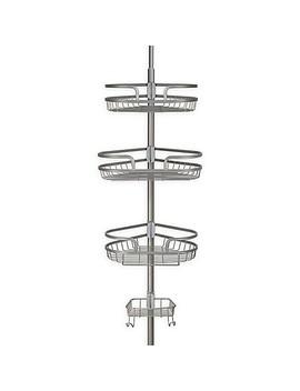 Richards Homewares Steel Tension Corner Shower Caddy In Satin Nickel by Bed Bath & Beyond